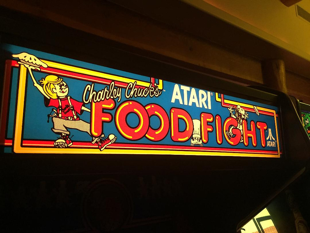 Atari Food Fight arcade game marquee