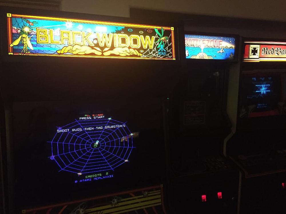 Atari Black Widow, Battlezone and Red Baron vector arcade games