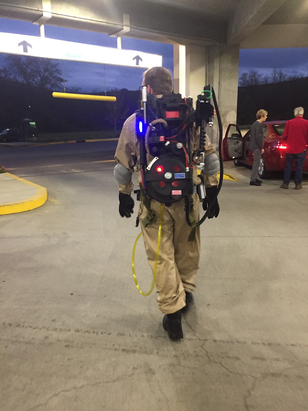 Ghostbuster cosplay at Tioga Downs Casino Halloween party.
