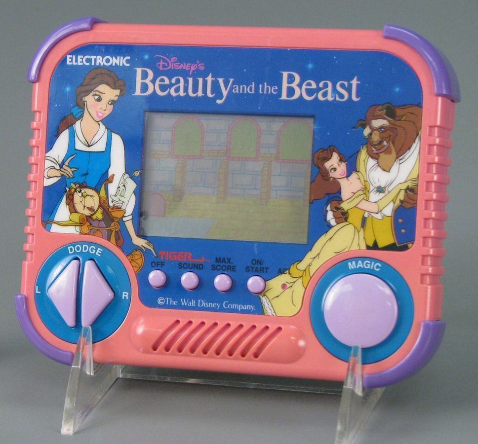 Disney Beauty and the Beast Tiger LCD handheld video game.
