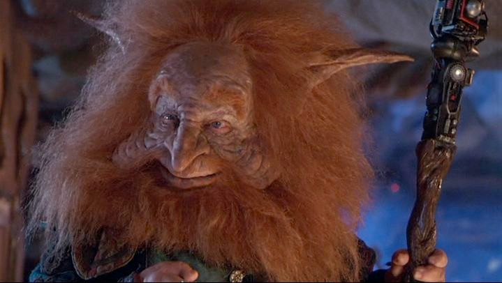 Billy Barty as Gwildor in Masters of the Universe movie 1987