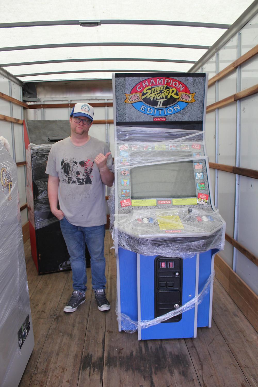 Street Fighter II Champion Edition Big Blue arcade machine