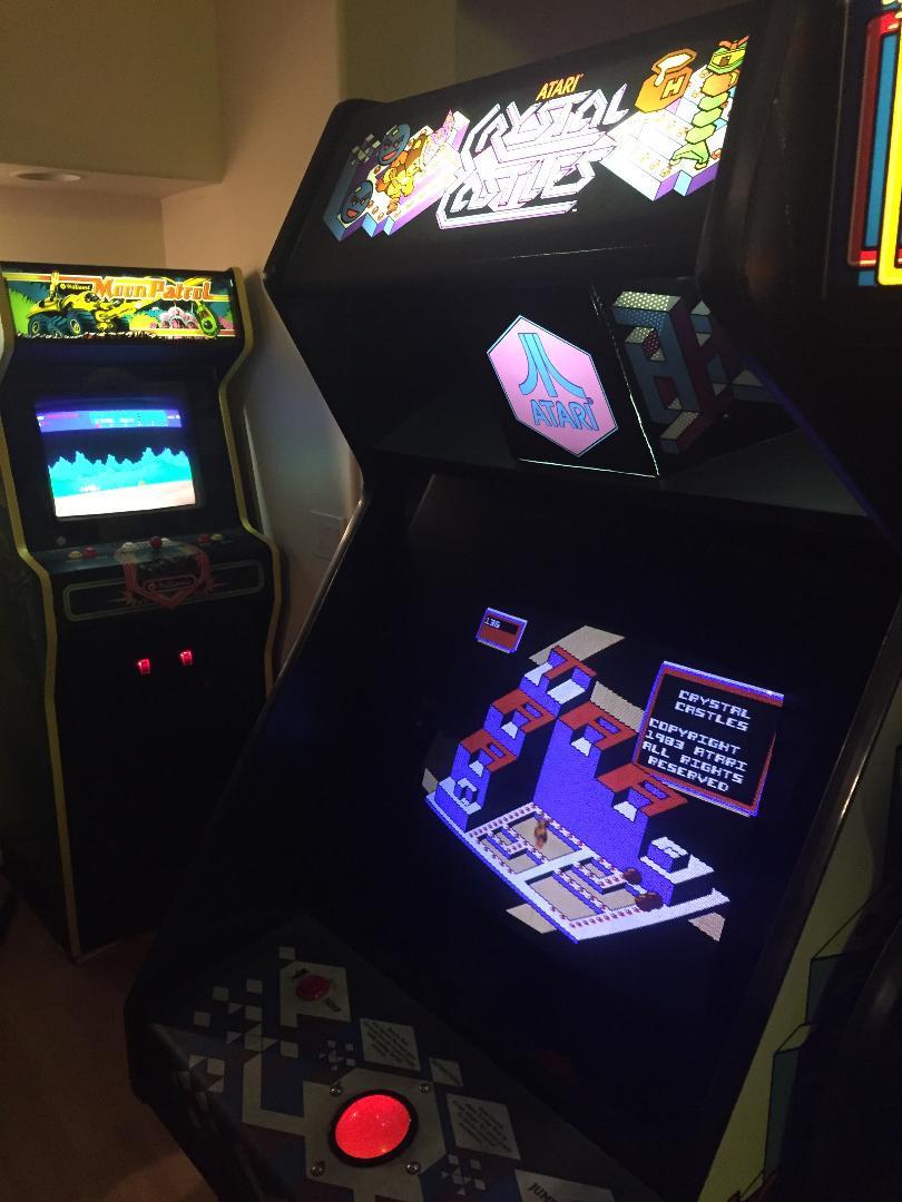 Atari Crystal Castles and Bally Moon Patrol arcade games