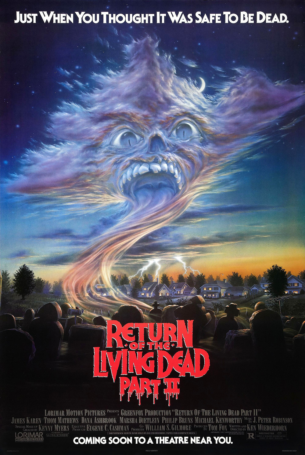 Original theatrical poster for Return of the Living Dead Part II.