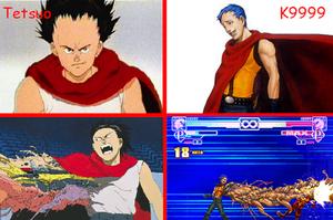Tetsuo and K9999 comparison