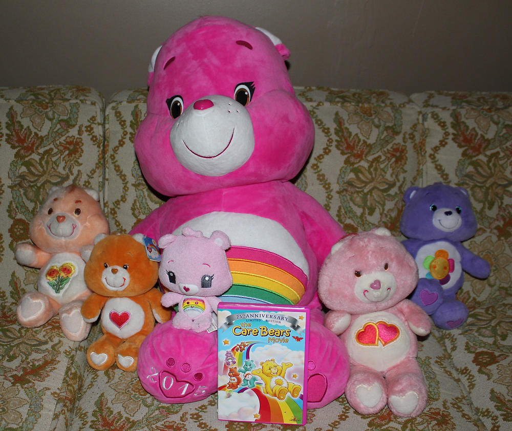 Vintage Care Bears toys and The Care Bears Movie DVD