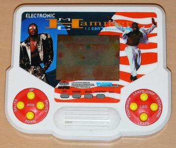 M.C. Hammer handheld Tiger LCD videogame.