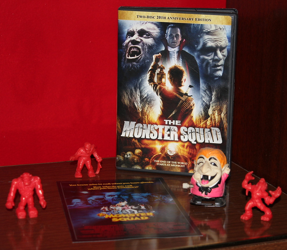 The Monster Squad DVD with Monster in My Pocket toys.