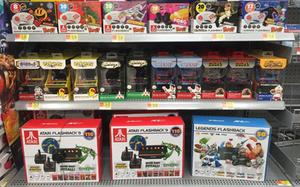 Atari Flashback 9, Flashback Legends, Flashback Blast!, My Arcade games at Wal-Mart