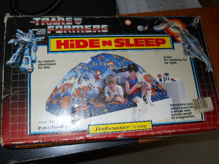 Vintage '80s Transformers Hide N Sleep tent