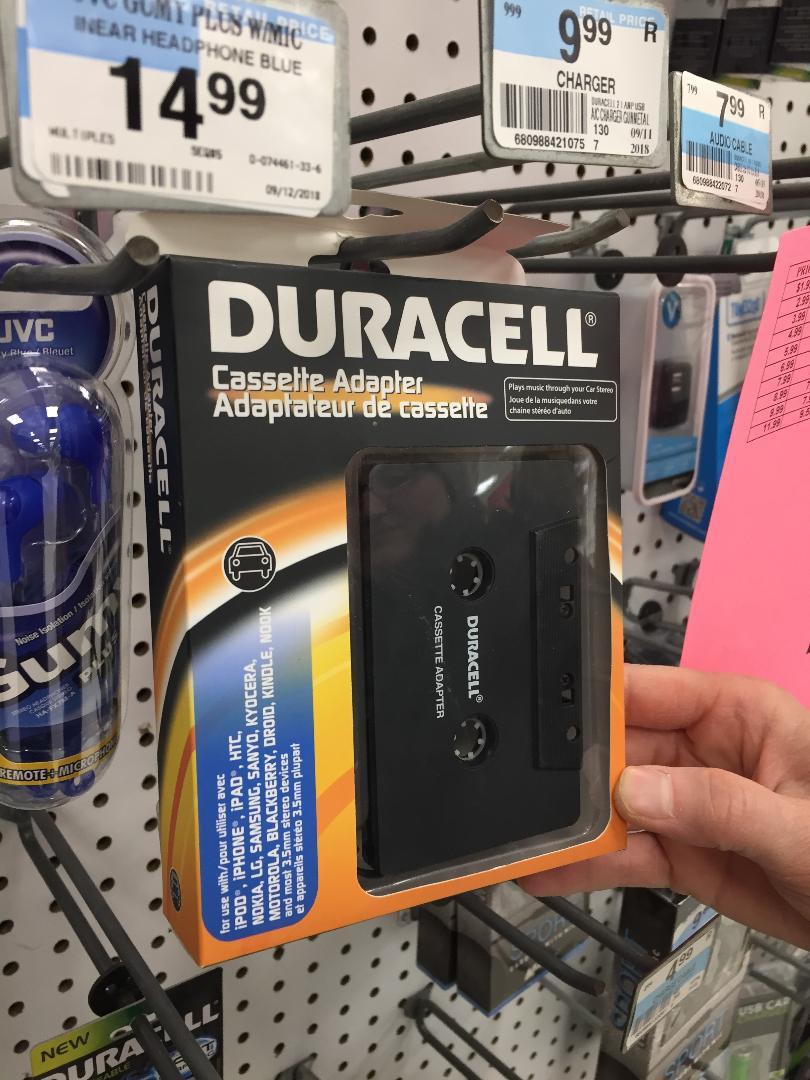 Duracell cassette adapter