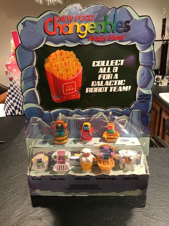 New Food Changeables Happy Meal store display.