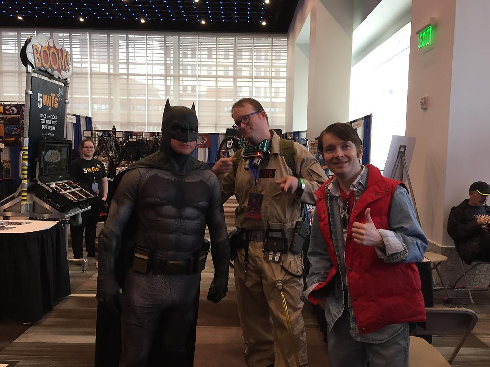 Batman, a Ghostbuster and Back to the Future Marty McFly.