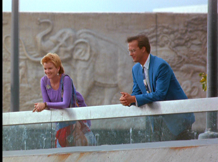 "Mare Winningham and Anthony Edwards in ""Miracle Mile."""