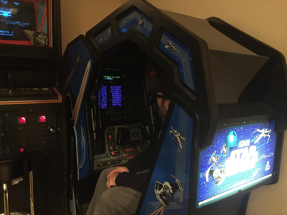 Atari Star Wars cockpit vector arcade game