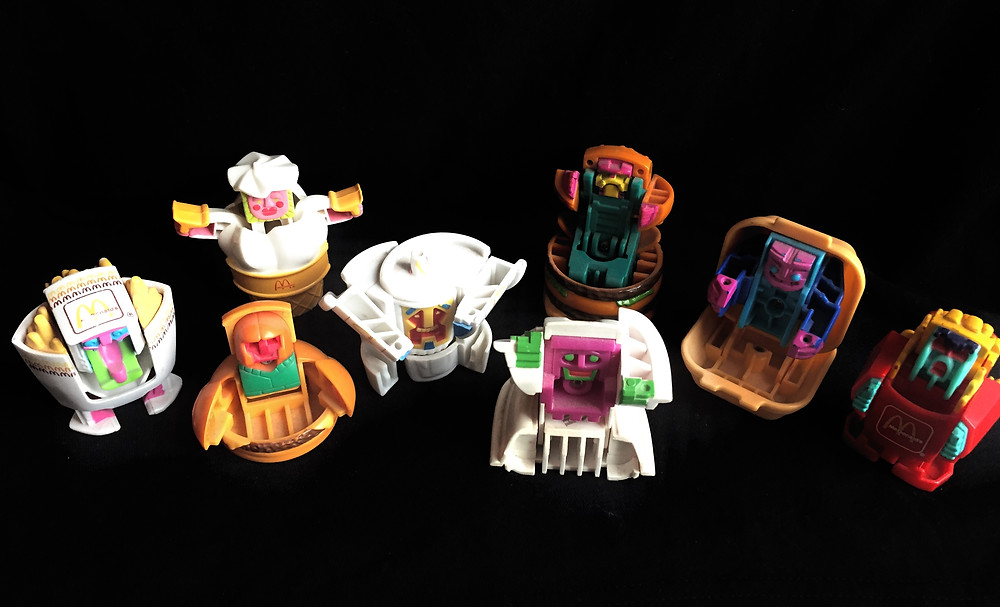 McDonald's '80s New Food Changeables kid's meal toys transform.