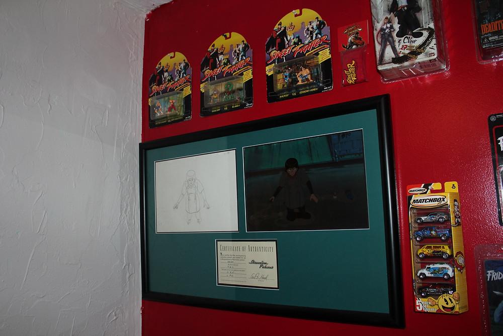 Framed Akira anime cel