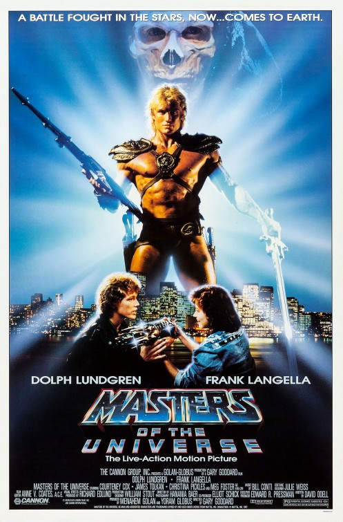 Masters of the Universe 1987 movie poster.