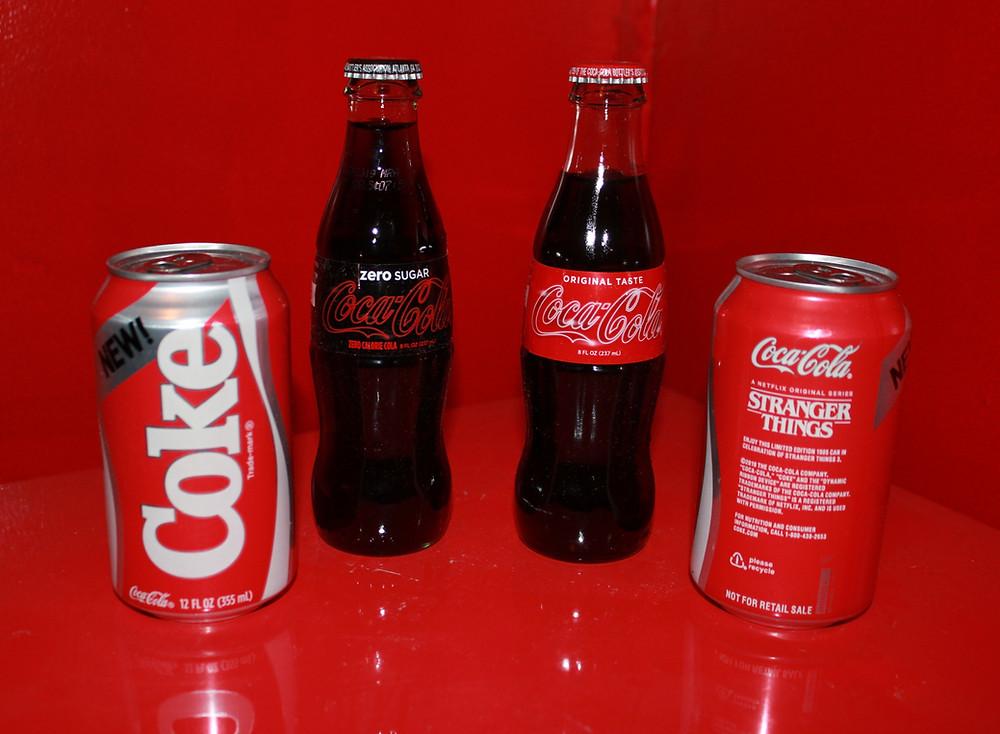 Netflix Stranger Things Season 3 Coke bottles and cans