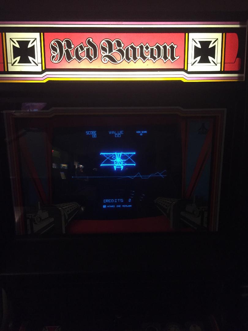 Atari Red Baron vector arcade game