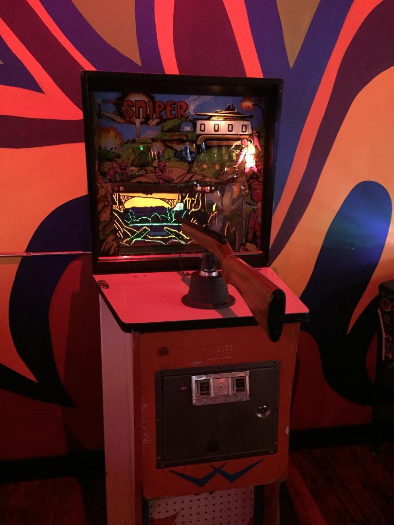 1971 Williams Sniper EM gun arcade game, Robot City Games, Binghamton, NY