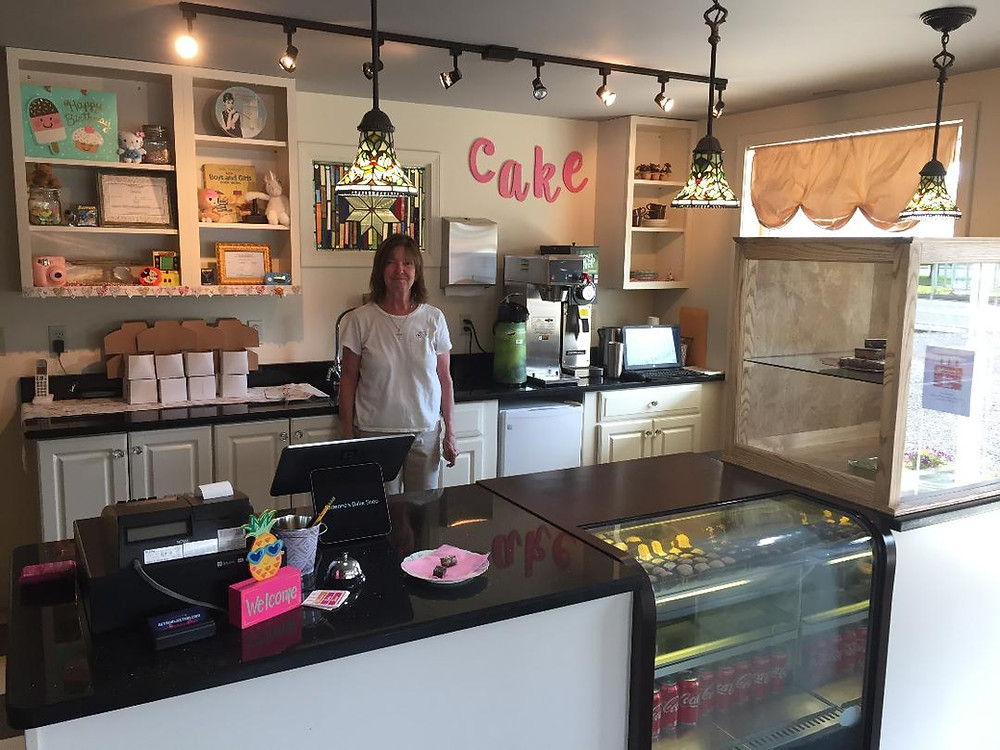Vickie Suarez in Adrienne's Bake Shop, Sayre, PA.