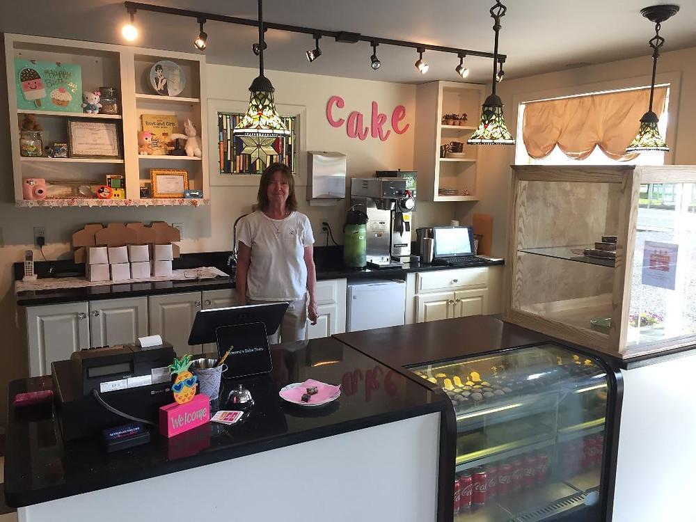 Vickie Suarez in Adrienne's Bake Shop, Sayre, PA.