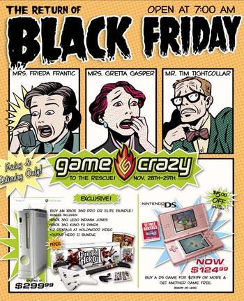 Game Crazy Black Friday ad.