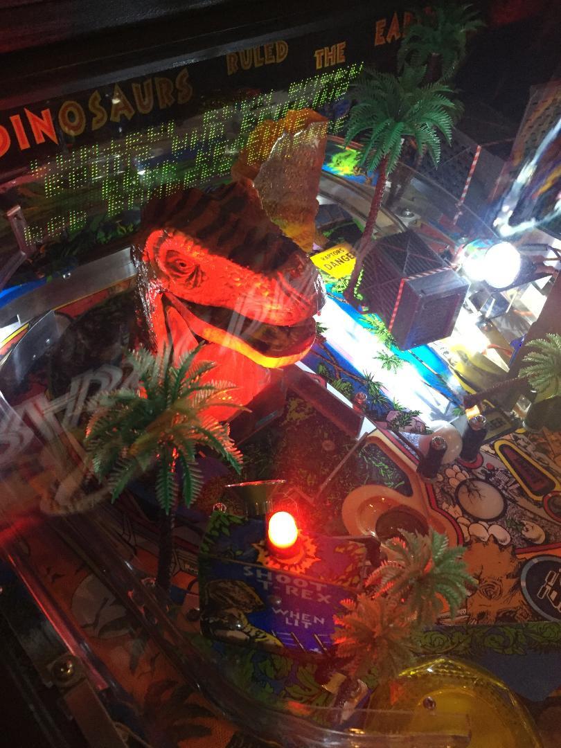 Data East Jurassic Park pinball playfield
