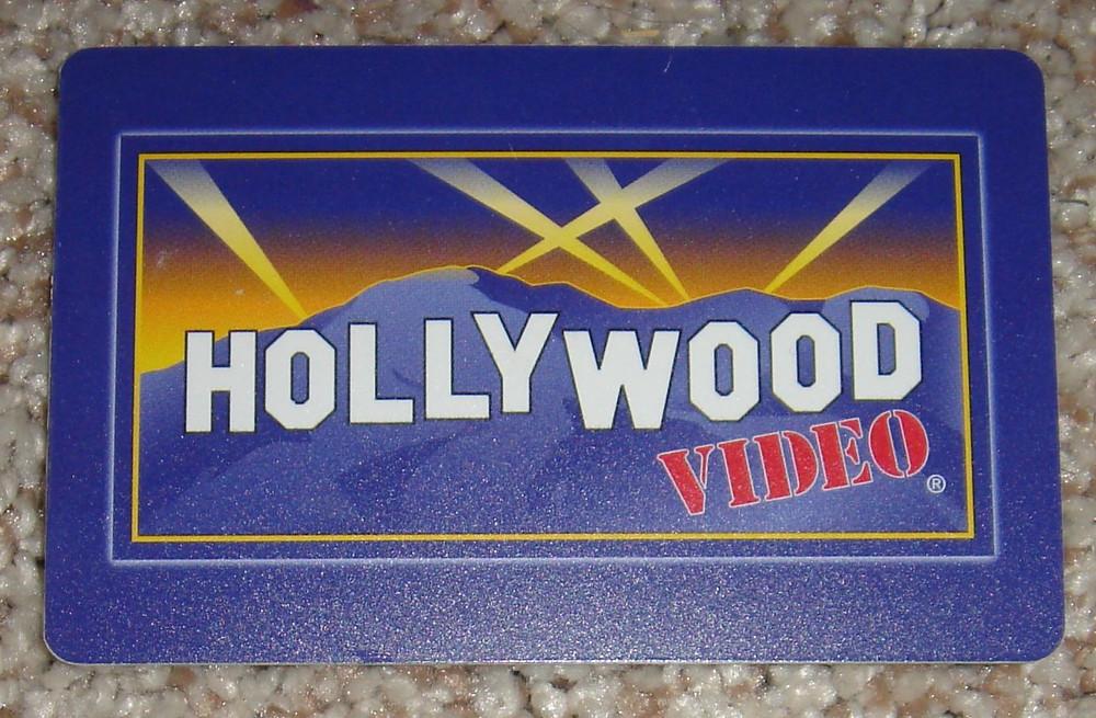 Hollywood Video membership card.