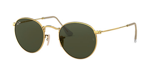 RAY-BAN ROUND METAL Gold Green Classic