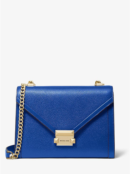 Whitney Large Pebbled Leather Convertible Shoulder Bag