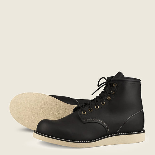 ROVER MEN'S 6-INCH BOOT IN BLACK HARNESS LEATHER