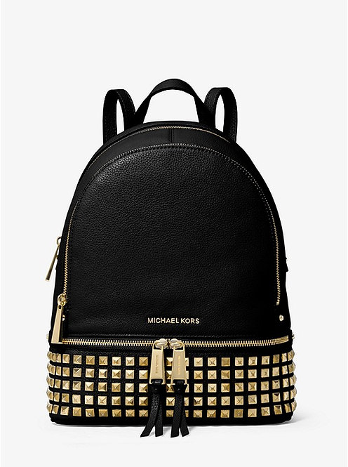 Rhea Medium Studded Pebbled Leather Backpack