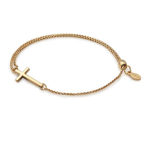 Cross Pull Chain Bracelet