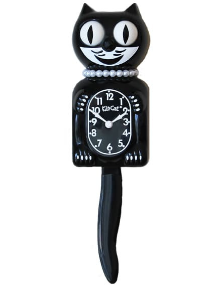 Classic Black Lady Limited Edition Kit-Cat Klock (15.5″ high)