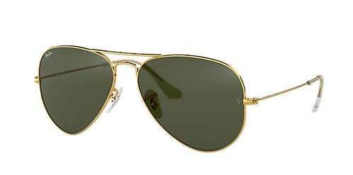 RAY-BAN AVIATOR CLASSIC Gold Green Classic