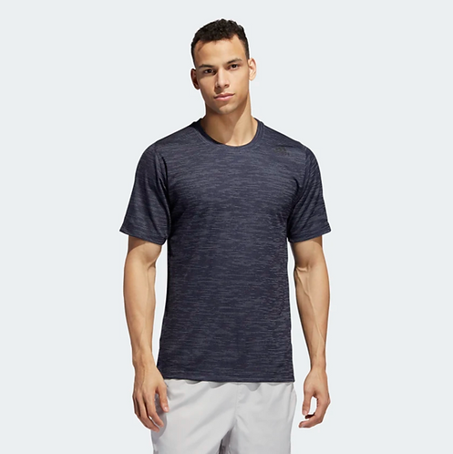 Free Lift Tech Fitted Striped Heathered Tee