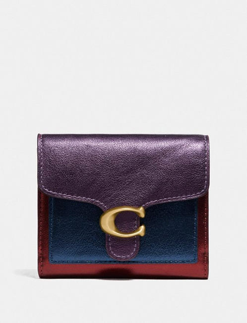 Coach Tabby Small Wallet In Colorblock