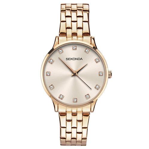Sekonda Women's Rose Gold Bracelet Watch