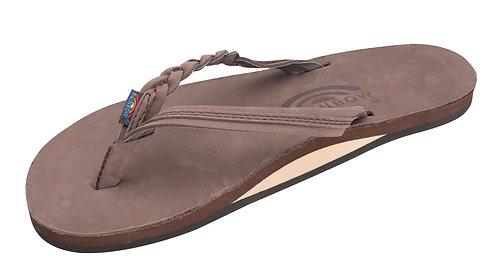 """Flirty Braidy - Single Layer Premier Leather 1/2"""" Narrow Strap with Braid"""