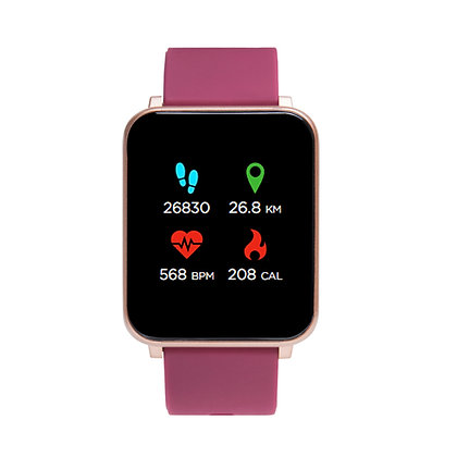 iTECH Fusion: Merlot Strap with Rose Gold Case
