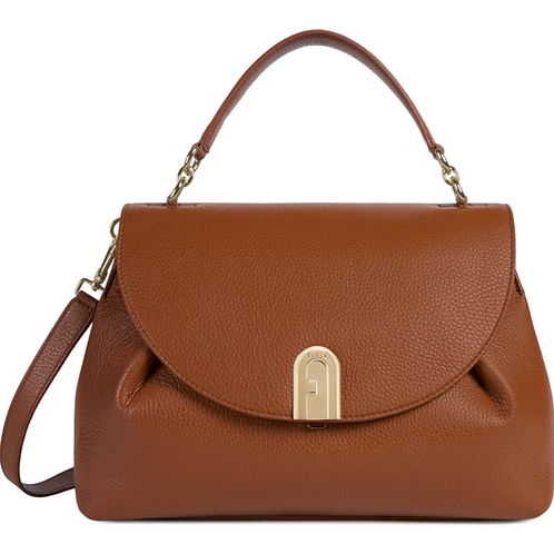FURLA SLEEK Top Handle M Cognac H