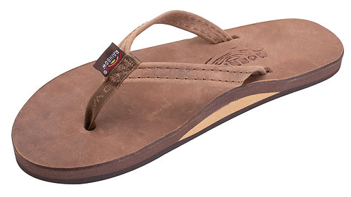 "Luxury Leather - Single Layer Arch Support with a 1/2"" Narrow Strap"