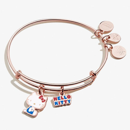 Hello Kitty Duo Charm Bangle Shiny Rose Gold