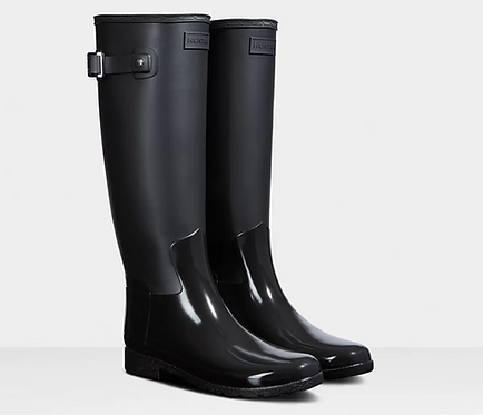 Hunter Women's Refined Slim Fit Gloss Duo Tall Rain Boots