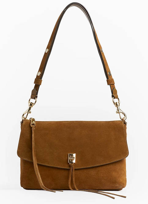 Tan Suede Purse
