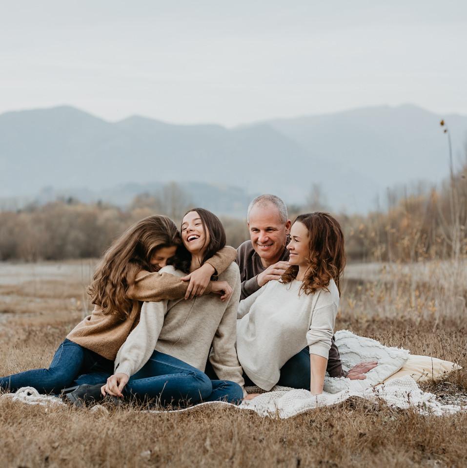 Lifestylové rodinné fotenie v prírode