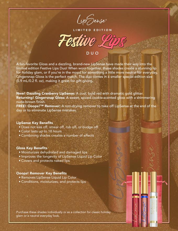 Festive Lip Duo Fact Sheet