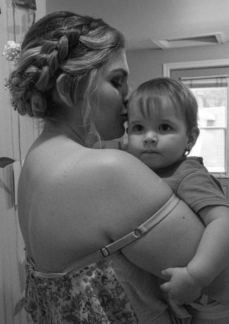 Charlotte avec sa fille@adriencote